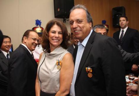 30 de novembro Marilene Ramos e Pezão seminario risco de desastres foto 2 Luiz Morier